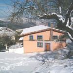 Fachada lateral con Nieve